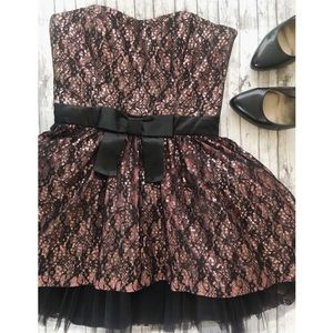 Betsey Johnson Lace, Sequin & Tulle Dress